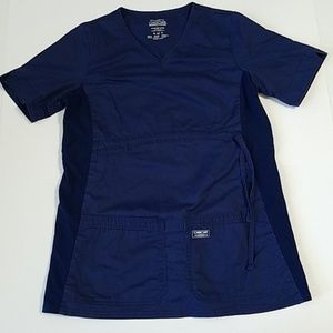 Maternity cherokee workwear navy blue scrub top XS
